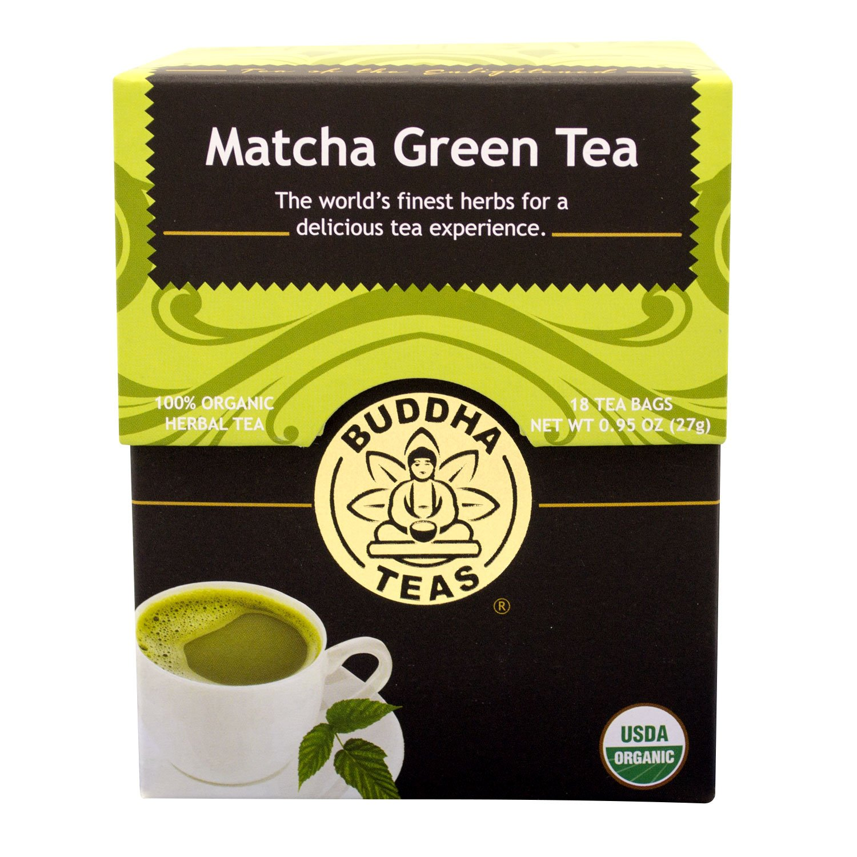 Buddha Teas Matcha Green Tea, 18 Count (Pack of 6)