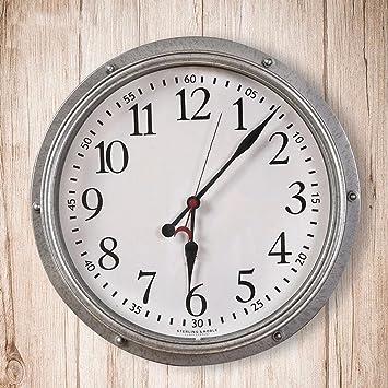 WERLM Diseño personalizado decorativos para el hogar reloj de pared Reloj de arte retro plancha salón ...