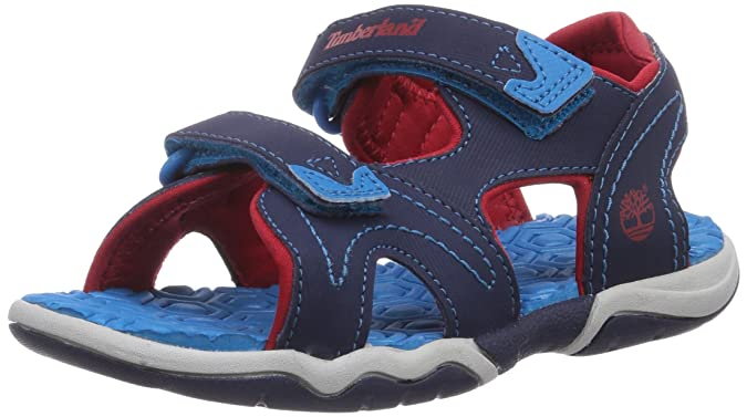 Timberland Kids Adventure Seeker 2-Strap Sandal Blau, Kinder Sandale, Größe EU 28 - Farbe Navy-Blue-Red