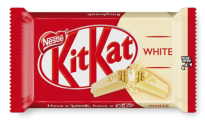 Nestlé KitKat Chocolate Blanco - Barritas de chocolate blanco, Snack de chocolate 24x41,5g