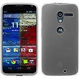 PhoneNatic Custodia Motorola Moto X trasparente bianco Cover Moto X in silicone + pellicola protettiva
