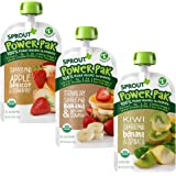 Sprout Organic Baby Food, Stage 4 Toddler Pouches, Apple Apricot Strawberry, Strawberry Banana Squash, Kiwi Banana Spinach Va