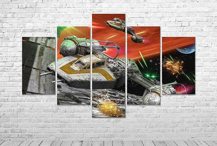 amazon com star wars movie canvas print multi panel framed wall art