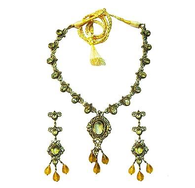 Buy vinayak Victorian necklace set(Citrin ) Online at Low