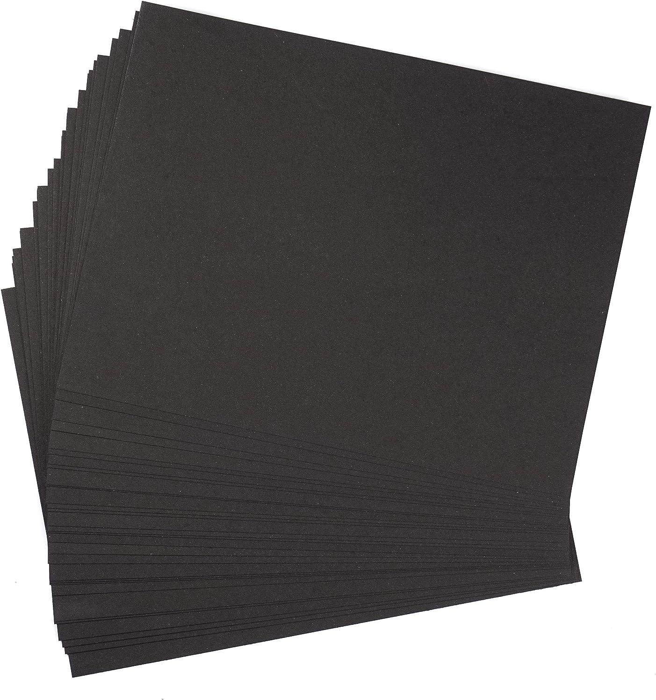 Pack 30 hojas cartón reciclado negro grueso 400 g/m² hojas ...