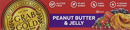 Grab The Gold Gluten Free Snack Bar, Peanut Butter Jelly, 12 Count