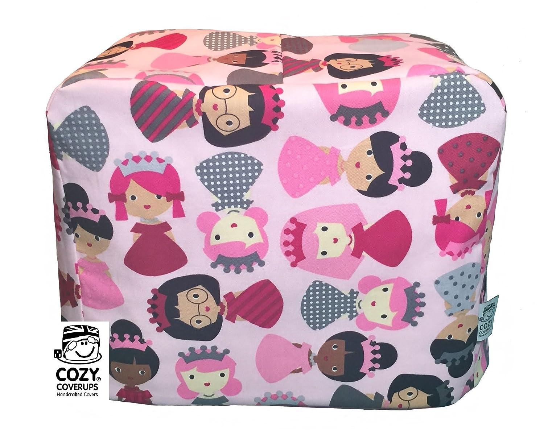 color rosa CozyCoverUp/® hecha a mano Funda antipolvo para m/áquina de coser
