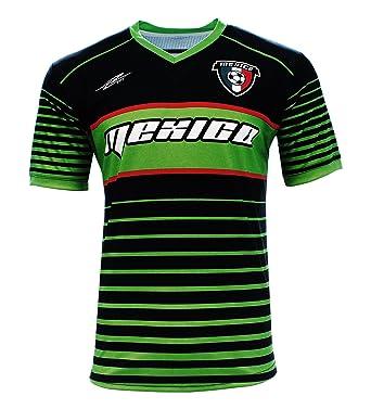 bd1501055a1800 Arza Sports Men's Mexico Fan Team Soccer Jersey Black/White (Black, Small)