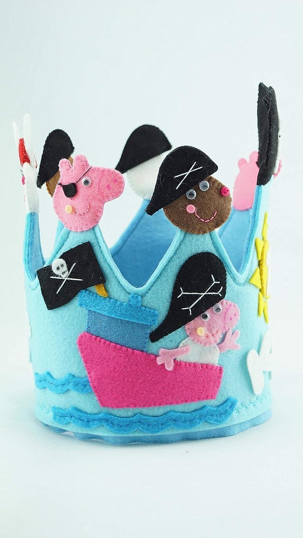 Corona Cumpleaños Peppa Pig Pirata: Amazon.es: Handmade