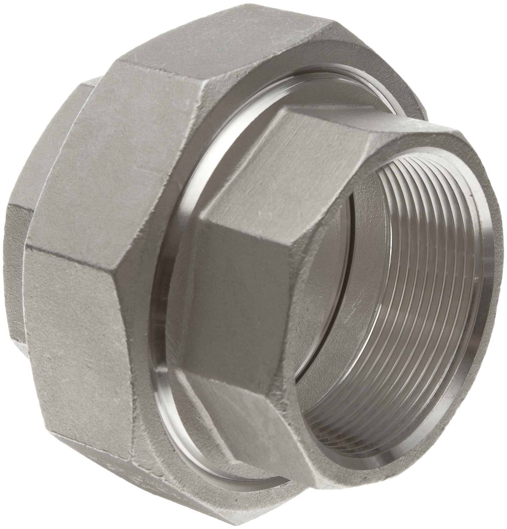 Stainless Steel 304 Cast Pipe Fitting, Union, Class 150, 1'' NPT Female
