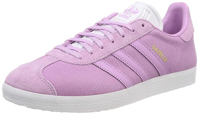 adidas Damen Gazelle Sneaker Violett mit violetten Streifen