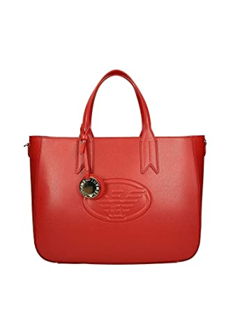 Emporio Armani Y3D082 Shopping Femme Rouge PZ  Amazon.fr  Vêtements ... a70e9465282
