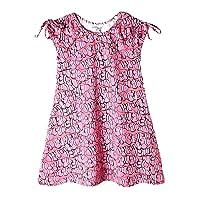 art & eden Girl's Organic Cotton Printed Dress