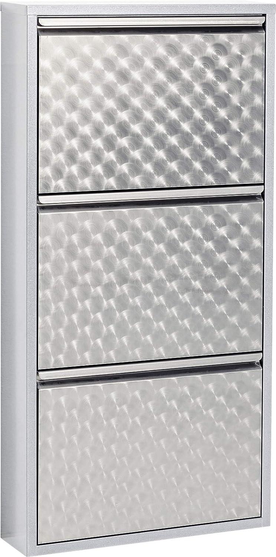 KARE Design Zapatero a 5 Porte Carusa 170 x 50 x 14 cm Blanco