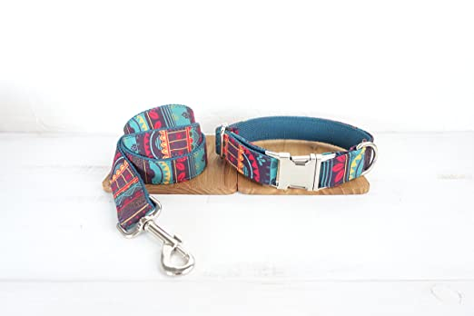 Amazon.com : Mew Style Design, Pattern Dog Ring, Color Pattern Cloth Traction Set, Metal Dog Ring, Matching Collar & Harness Available Separately (M) : Pet ...