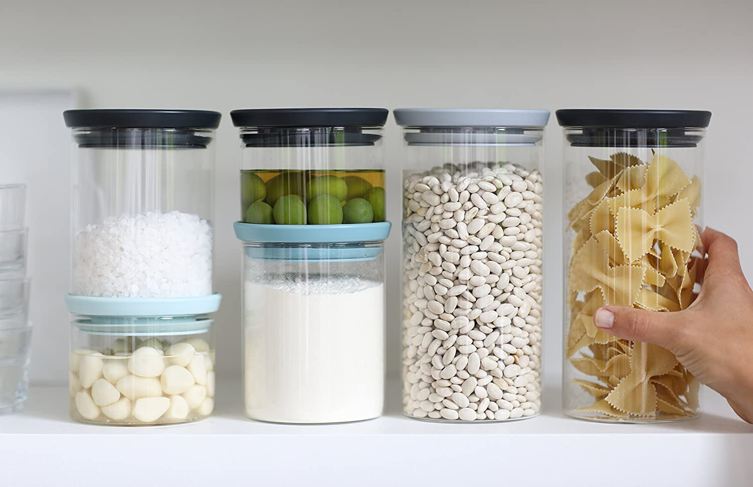 Ordinaire Brabantia Stackable Glass Jars, ...