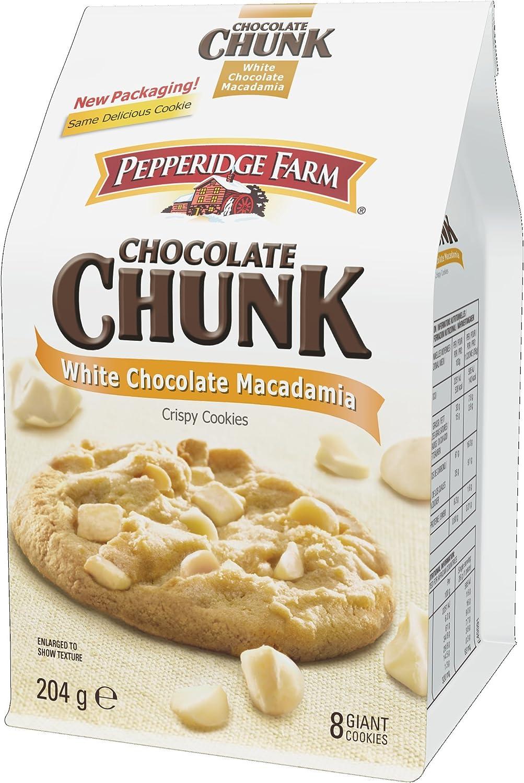 Pepperidge Farm White Chocolate Chunk Macadamia Crispy Cookies 204 G Amazon Co Uk Grocery
