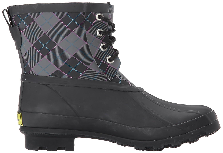 Western Chief Women's Ankle Rain Bootie Boot B01NCW78YU 9 B(M) US|Rain Duck Charcoal