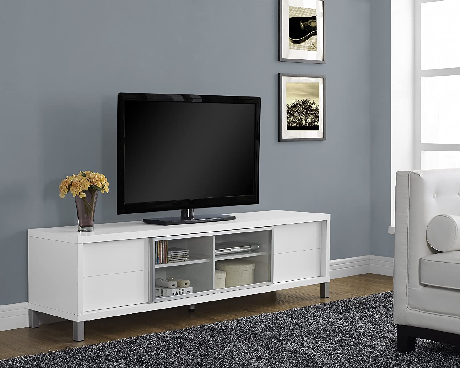 Amazon monarch specialties i 2537 tv console euro style amazon monarch specialties i 2537 tv console euro style white 70 kitchen dining geotapseo Image collections