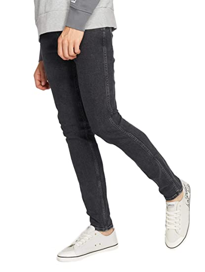 ed872cea7 Levi's Mens Line 8 Skinny Fit Jeans in Charcoal- Zip Fly- 5 Pocket ...