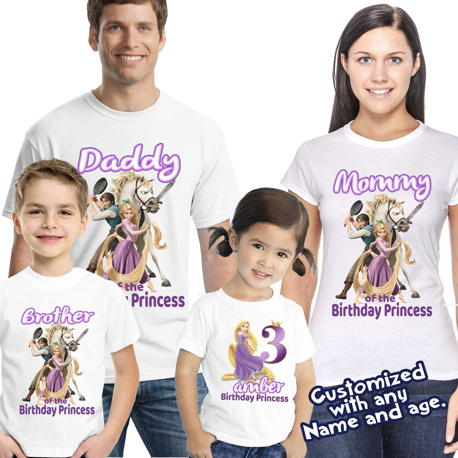 ff01ba61d 84+ Rapunzel Birthday Shirts - Personalized Rapunzel Shirt Only, 50 ...