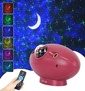 Star Projector Light , UNIFUN Galaxy Projector Light with Bluetooth Music Speaker 4-in-1 LED Nebula Cloud Projector for Kids Adults Bedroom,Home, Theatre,Party and Night Light Ambience. (Green Star)