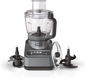 Ninja Professional Plus Food Processor 1000-Peak-Watts with Auto-iQ Preset Programs Chop Puree Dough Slice Shred with a 9-Cup Capacity and a Silver Stainless Finish