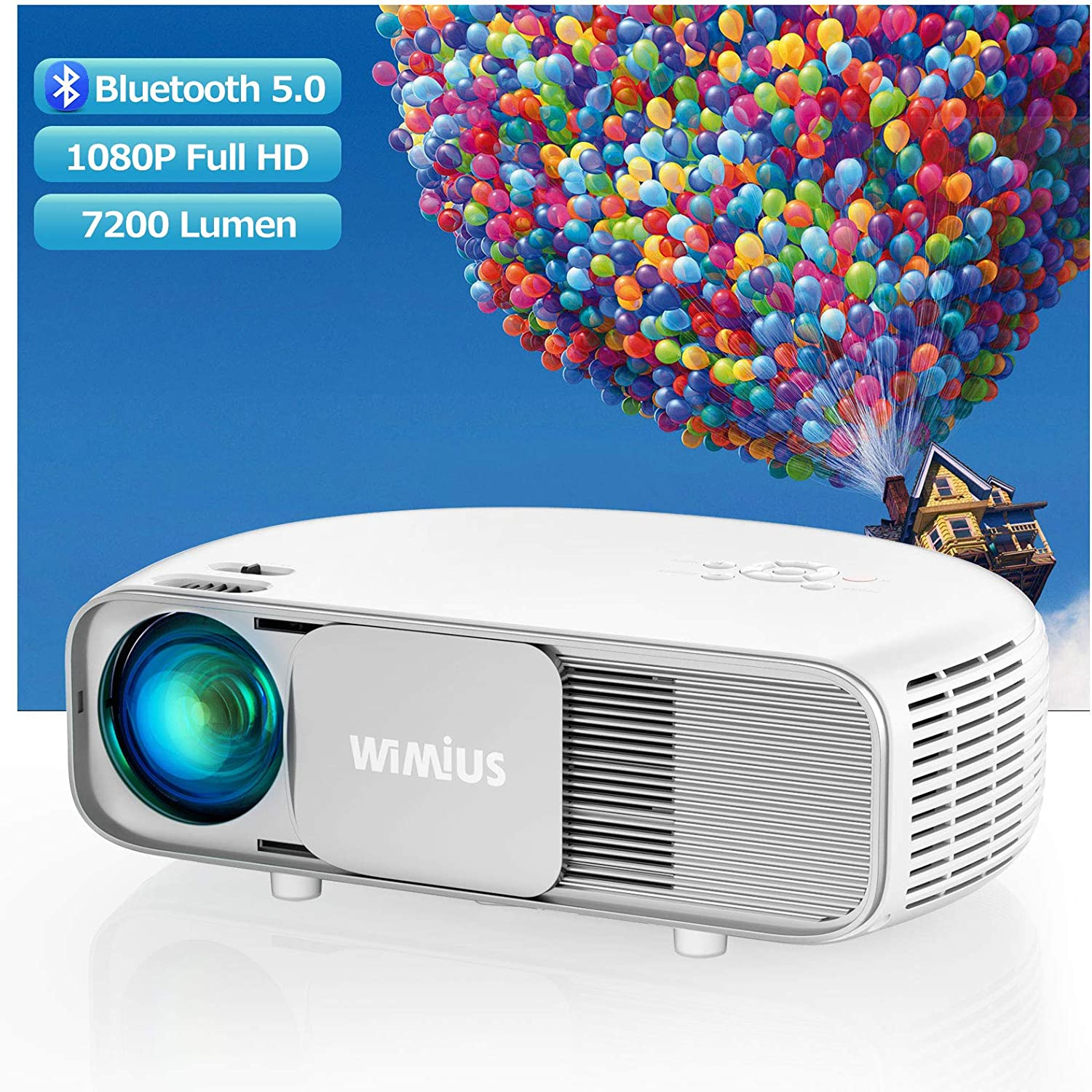 WiMiUS S4 Home Cinema Projector 7200 lumens 300 inches