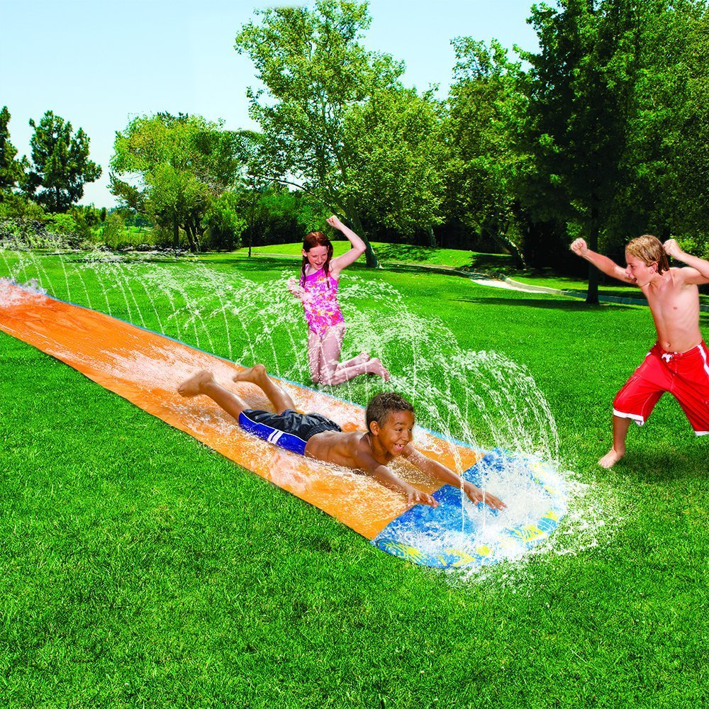 amazon com banzai speed blast water slide toys u0026 games