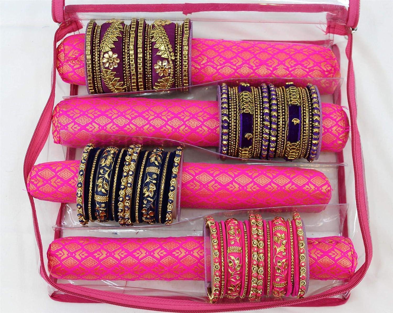 Shri Venilals Indian Bangles Box//Storage Case//Bangle Pouch//Bangle Organiser 1X Red