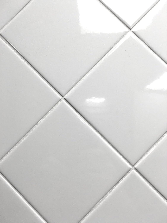 - 4x4 White Glossy Finish 4 1/4x4 1/4 Ceramic Subway Tile Shower