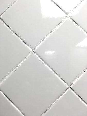 4x4 White Glossy Finish 4 1 Ceramic Subway Tile Shower Walls Backsplashes Amazon Com