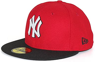 A NEW ERA Era 5950 NY Gorra, talla: 7 5/8, color: rojo/negro ...