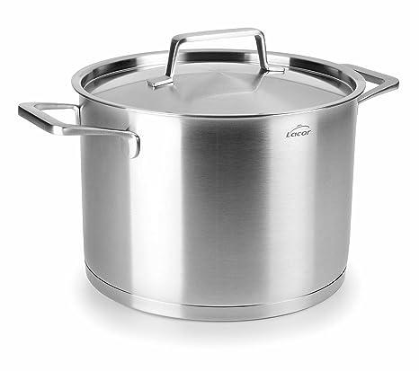 Amazon.com: Lacor 45126 Stock Pot with Lid Foodie 26X16Cm ...