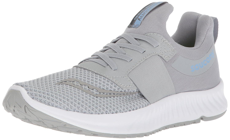 Saucony Women's Stretch N Go Breeze Running Shoe B071JNMCDD 6.5 B(M) US|Grey
