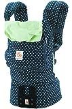 エルゴベビー(Ergobaby) 抱っこひも おんぶ可 [日本正規品保証付] (日本限定ベビーウエストベルト付) (洗濯機で洗える) 装着簡単 ベビーキャリア オリジナル/ミントドット CREGBCASWDT
