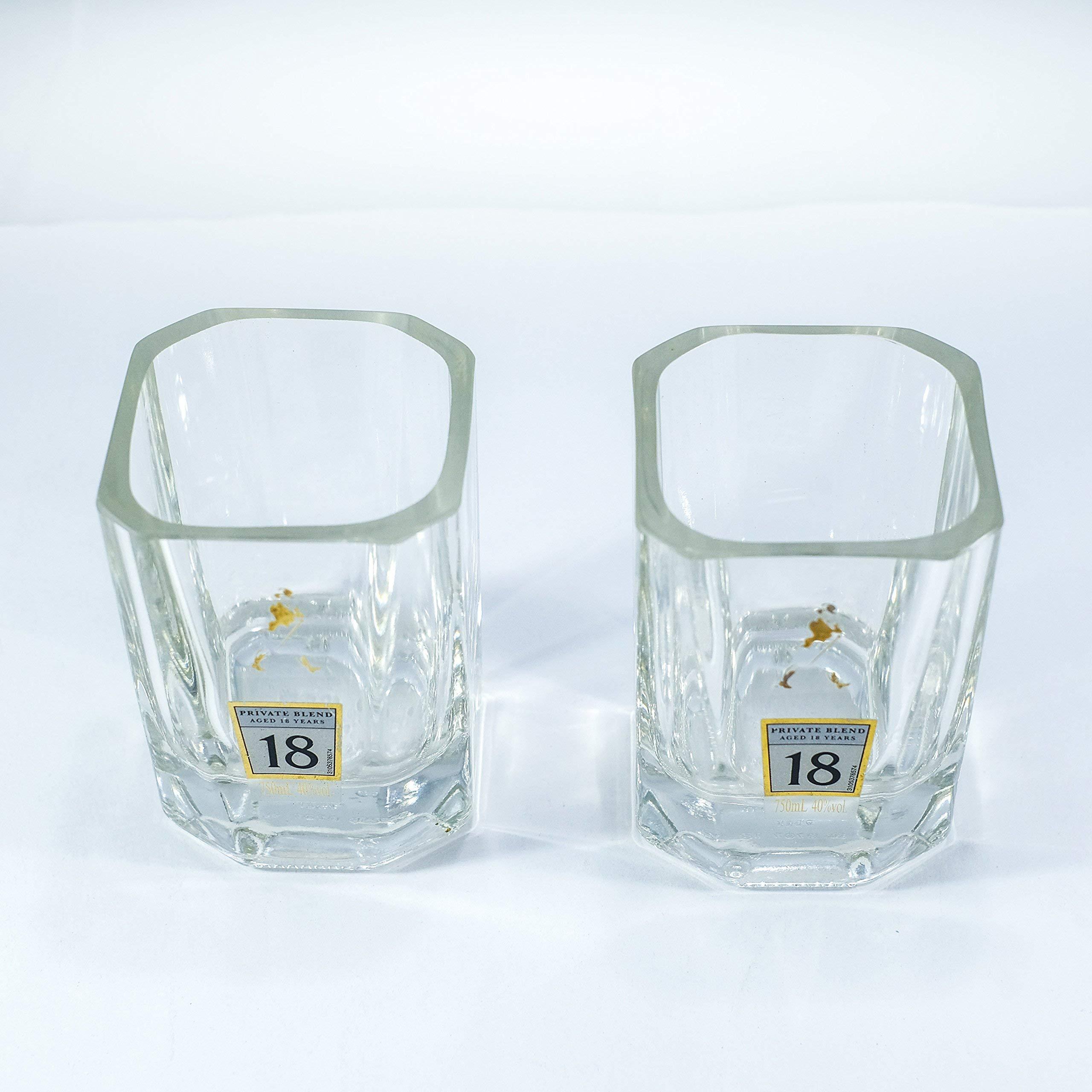 Scotch Glasses made from Johnnie Walker Platinum Label 18 Year bottle