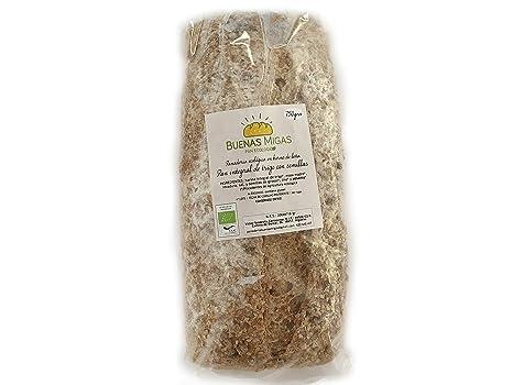 Pan ecológico artesanal con masa madre en horno de leña. Sabor tradicional exquisito. Envío GRATIS 24h. (Pan Blanco de trigo con semillas 750gr aprox.