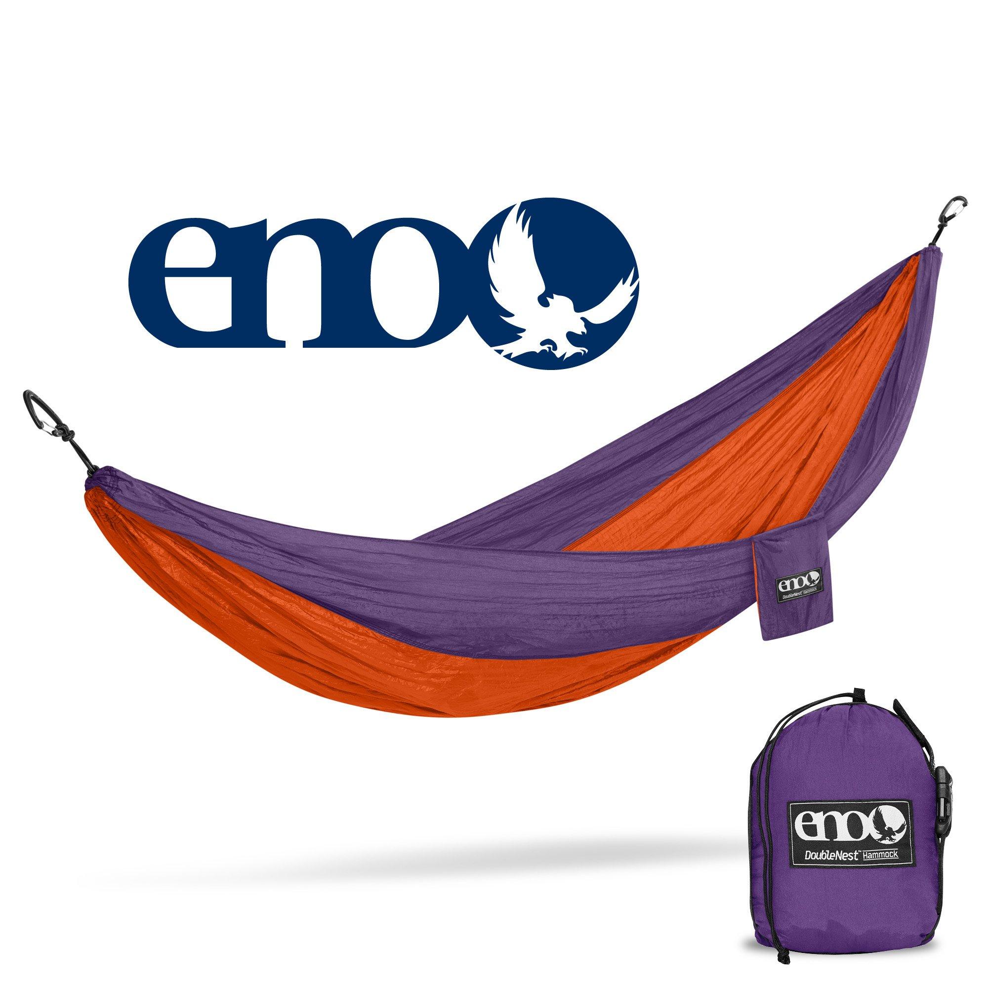 eno - Eagles Nest Outfitters DoubleNest Hammock, Portable Hammock for Two, Orange/Violet