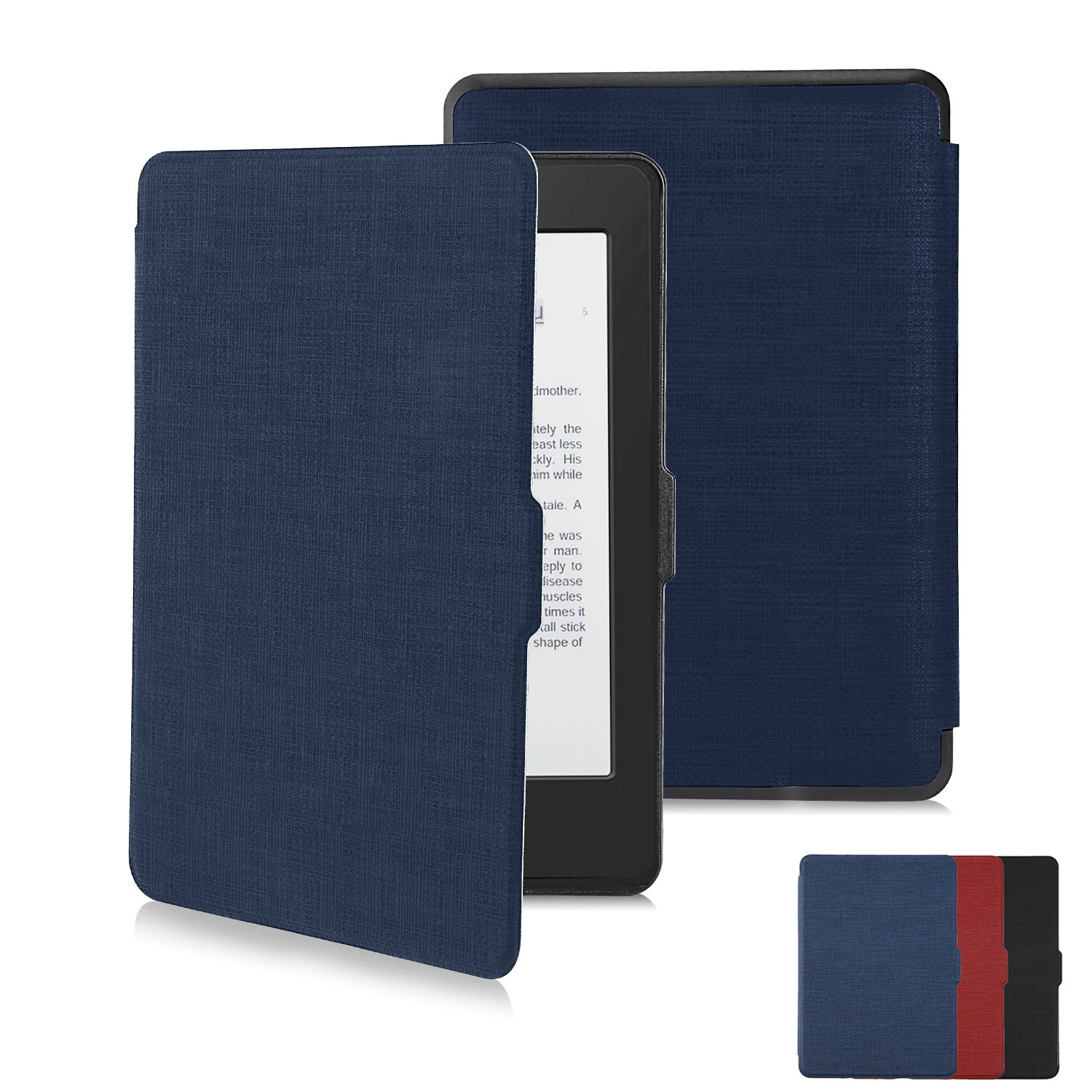 Kindle Paperwhite Case Kindle Cover Screen Protector Premium Thinnest and Lightest PU Leather Cover with Auto Wake/Sleep for Paperwhite 1/2/3