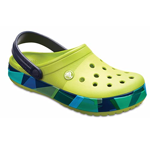 84ea4920480cd crocs Crocband Prismatic Clog Volt Green  Buy Online at Low Prices ...