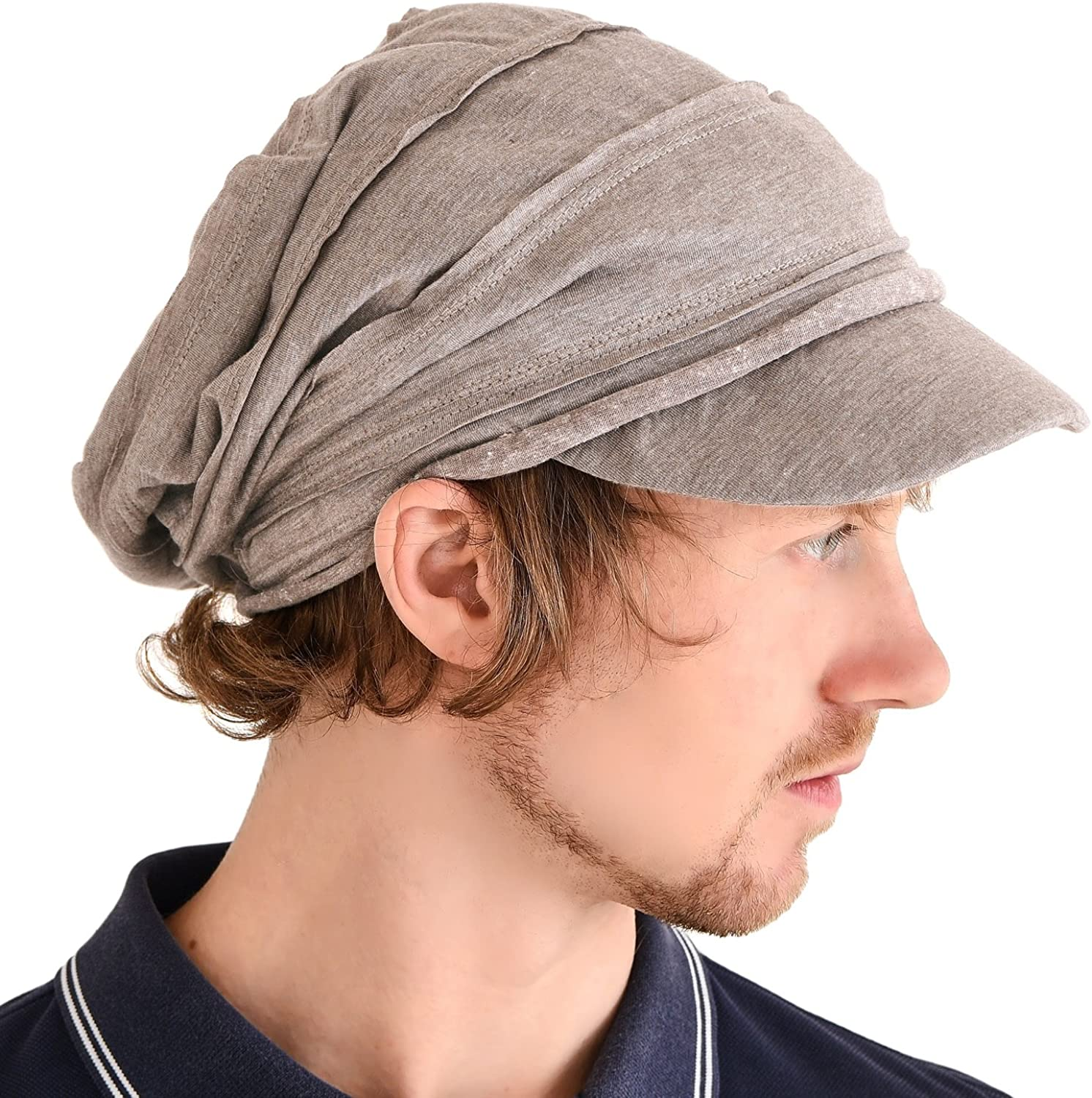 Mens Slouch Beanie Slouchy Hat Womens Peak Cap Breathable Summer Winter Japanese Fashion