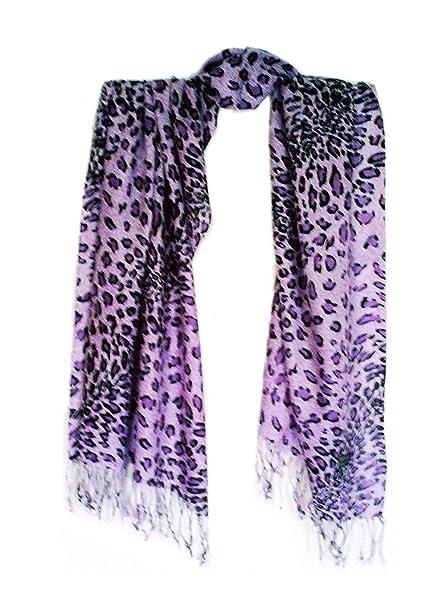 Shoppen Sie Damen Leoparden Schal extra lang, Tuch, Raubtiermuster ...