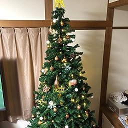 Amazon ビューティーライフ Beauty Life クリスマス ツリー210 グリーン ヌード 装飾なし オーナメント無 210センチ メタルスタンド ツリースカート 説明書付き Christmas Tree Green 210cm Xmas X Mas 210cm クリスマスツリー おもちゃ