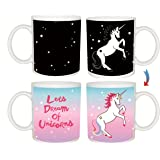 Super Cool & Cute Perfectly Color Changing Unicorn Mug, Best Gift with Premium Quality by A&S Design