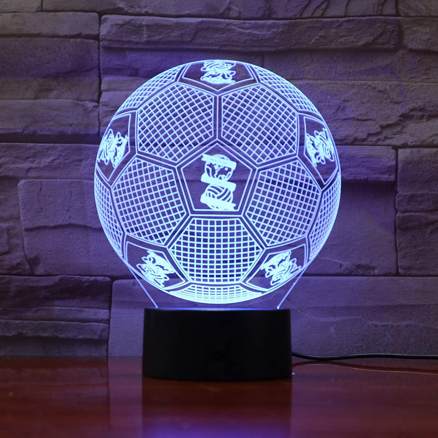 Football Team Logo 3D LED Table Lamp