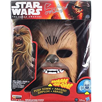Peter Mayhew Signed Star Wars The Force Awakens Chewbacca Electronic Mask (Signed on Box)