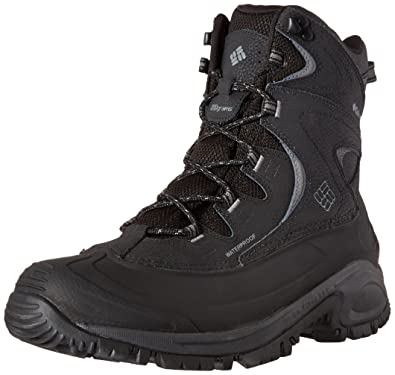 Columbia Men's Bugaboot II Wide Snow Boot, Black, Charcoal, 7.5 2E US