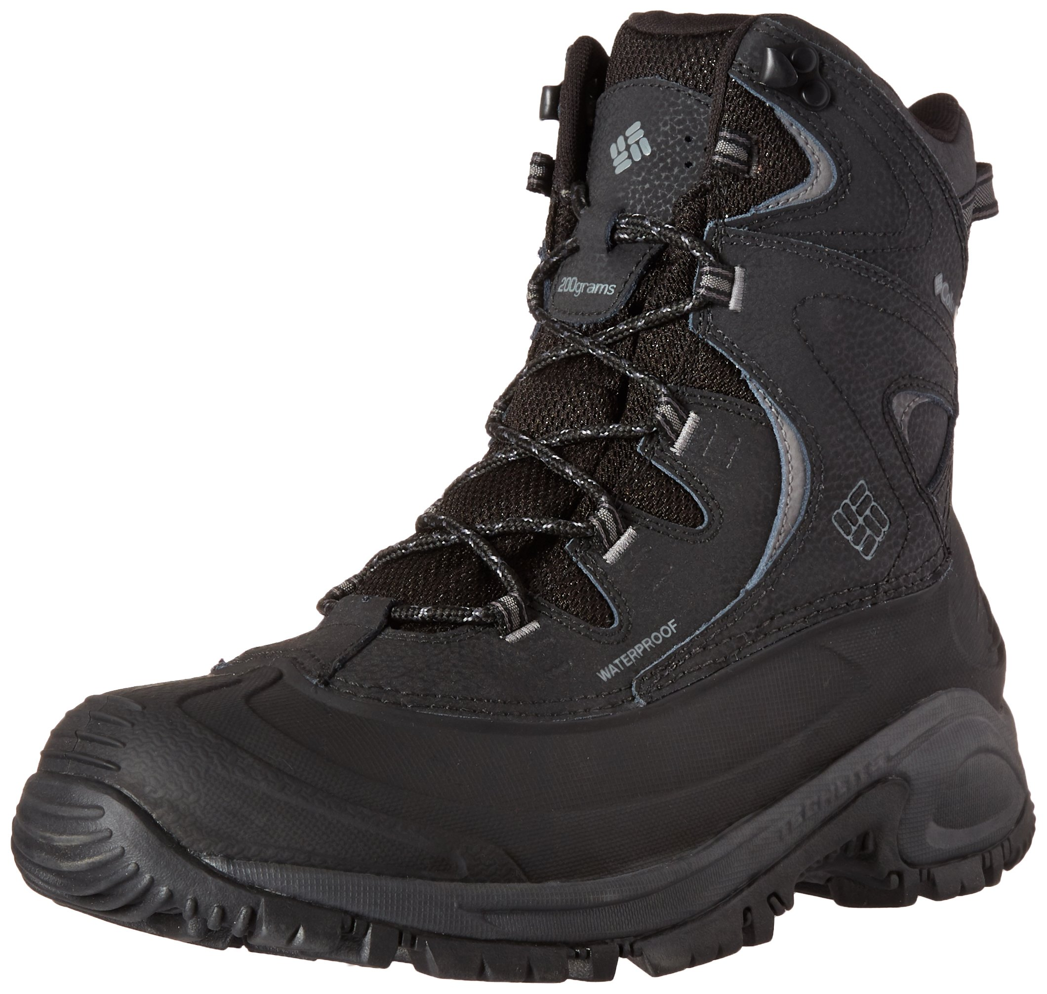 Columbia Men's Bugaboot Ii Wide Snow Boot, Black, Charcoal, 11 2E US