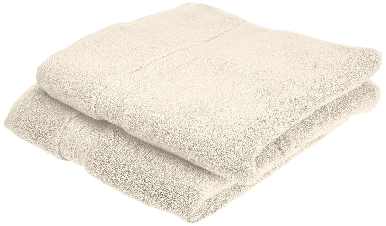 Pinzon - Juego de toallas de algodón Pima (2 toallas de mano), color marfil: Amazon.es: Hogar